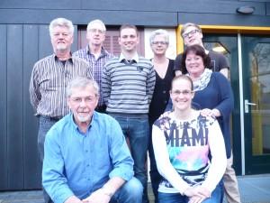 De organisatie vlnr: Piet Houtenbos, Co Cardol, Leo Blank, Erwin Dam, Karin Houtenbos, Kelly Mol, Marian Dam en Sam Houtenbos.